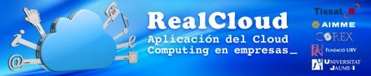 Logo de RealCloud incluyendo los de los integrantes del Consorcio
